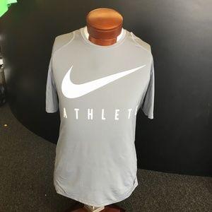 Nike Pro Gray & White DRI-FIT T-shirt- XL